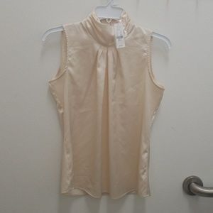 NWT! New York & Co. Silky high neck top, small